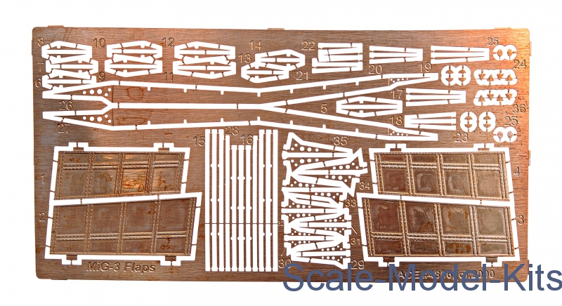 Photo-etched set MiG-3 Flaps (for ARK Models kit)