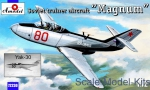"Trainer aircraft / Sport: Yakovlev Yak-30 ""Magnum"" Soviet trainer aircraft, Amodel, Scale 1:72"