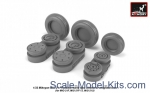 AR-AW32009 Mikoyan MiG-21 Fishbed wheels w/ weighted tires, early