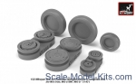AR-AW32011 Mikoyan MiG-21 Fishbed wheels w/ weighted tires, late