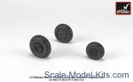 AR-AW72048 Mikoyan MiG-21 Fishbed wheels w/ weighted tires, early
