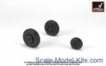 AR-AW72049 Mikoyan MiG-21 Fishbed wheels w/ weighted tires, mid