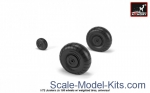 AR-AW72203 Junkers Ju 188 wheels w/ weighted tires