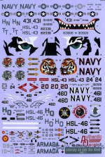 AD4828 Decal for Modern US NAVY Sikorsky SH-60B Sea Hawk, HSL-42,43,46 Bonus Spain Navy