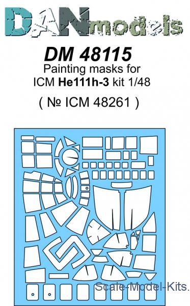 Painting masks for model He-111, ICM kit