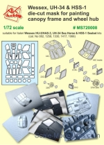 DAN-MS720008 Mask for Wessex HU-5/HAS-3, UH-34 Sea Horse & HSS-1 Seabat for Italeri kit