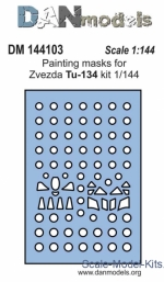 DAN144103 Painting masks for model Tu-134, Zvezda kit