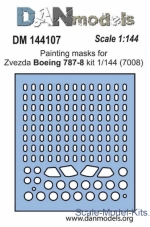 DAN144107 Painting masks for model Boeing 787-8, Zvezda kit