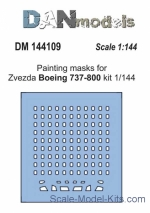 DAN144109 Painting masks for model Boeing 737-800, Zvezda kit