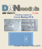 DAN144111 Painting masks for model Boeing 747-8, Zvezda kit