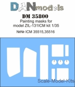 DAN35800 Painting masks for model Zil-131, ICM kit