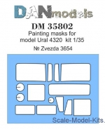 DAN35802 Painting masks for Ural-4320, Zvezda kit
