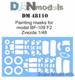 DAN48110 Painting masks for model BF-109 F2 (Zvezda)