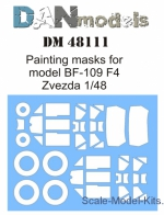 DAN48111 Painting masks for model BF-109 F4 (Zvezda)