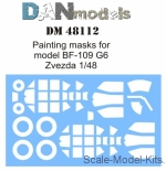 DAN48112 Painting masks for model BF-109 G6 (Zvezda)