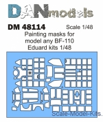 DAN48114 Painting masks for model BF-110, Eduard kit