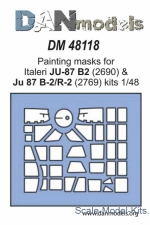 DAN48118 Painting masks for model Ju-87 B-2 & Ju-87 D-2/R-2, Italeri kit