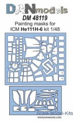 DAN48119 Painting masks for model He 111H-6, ICM kit