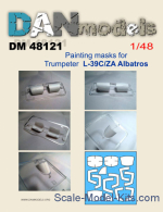 DAN48121 Painting masks for model L-39C/ZA Albatros, Trumpeter kit