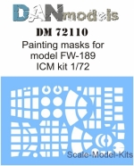 DAN72110 Painting mask for model FW-189 ICM kit