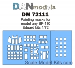 DAN72111 Painting mask for model BF-110, Eduard kit