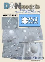 DAN72115 Painting masks for A&A Models Mirage IVA