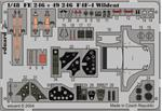 EDU-FE246 Photoetched set 1/48 F4F-4 Wildcat, for Tamiya kit