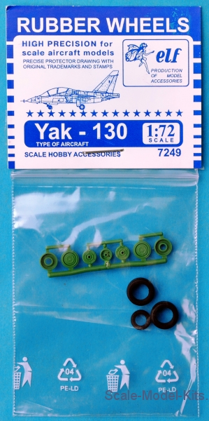 Rubber wheels for Yak-130