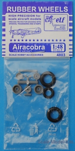 ELF4803 Rubber wheels for P-39 Airacobra