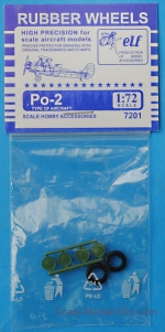 Detailing set: Rubber wheels for Po-2, ELF, Scale 1:72