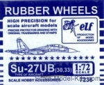 ELF7236UB Rubber wheels for Su-27UB