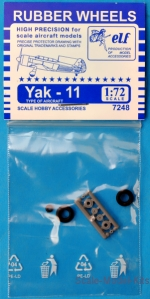 ELF7248 Rubber wheels for Yak-11