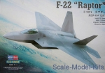 "Fighters: 1/72 Hobby Boss 80210 - F-22A ""Raptor"", Hobby Boss, Scale 1:72"