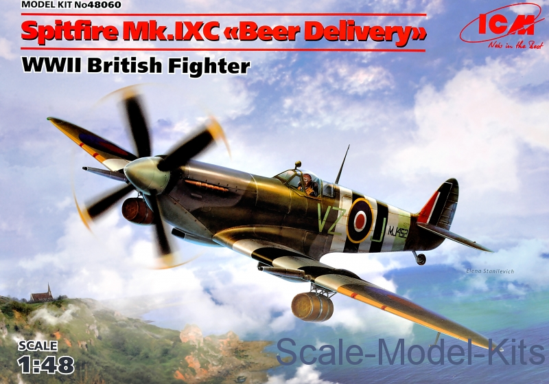 "Spitfire Mk.IXC ""Beer Delivery"", WWII British Fighter"
