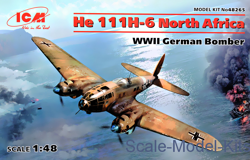 He 111H-6 North Africa, WWII German Bomber