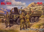 Army Car / Truck: ZiL-131, Soviet Truck with Soviet Motorized Rifles, ICM, Scale 1:35