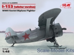 ICM48096 I-153, WWII Soviet Biplane Fighter (winter version)