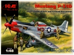 ICM48153 Mustang P-51D USAF fighter + US Pilots and technics