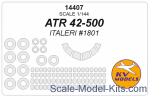 KVM14407 Mask 1/144 for ATR 42-500 + wheels masks (ITALERI)