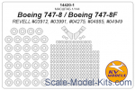 KVM14420-01 Mask 1/144 for Boeing 747-8/Boeing 747-8F + wheels masks (REVELL)