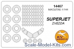 KVM14467 Mask 1/144 Superjet-100 and wheels masks