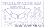 KVM14613 Mask for Challenger CL 601/CL-604, Revell kit
