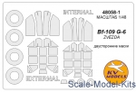Decals / Mask: Mask for Bf-109G-6 (Double sided) + wheels (Zvezda), KV Models, Scale 1:48