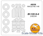 Decals / Mask: Mask for Bf-109G-6 + wheels (Zvezda), KV Models, Scale 1:48