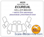 KVM48229 Mask 1/48 for ECUREUIL, Heller kit