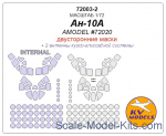 KVM72003-02 Mask 1/72 for An-10A Double sided (Amodel)