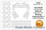 KVM72252 Mask 1/72 for CH-47C/D/ACH-47/Boeing Chinook HC.1