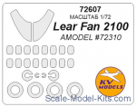 KVM72607 Mask 1/72 for Lear Fan 2100, Amodel kit