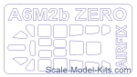 Decals / Mask: Mask for Mitsubishi A6M2b Zero, Airfix kit, KV Models, Scale 1:72