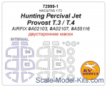 KVM72999-01 Mask 1/72 for Hunting Percival Jet Provost T.3/T.4 (Double sided) + wheels masks (AirFix)
